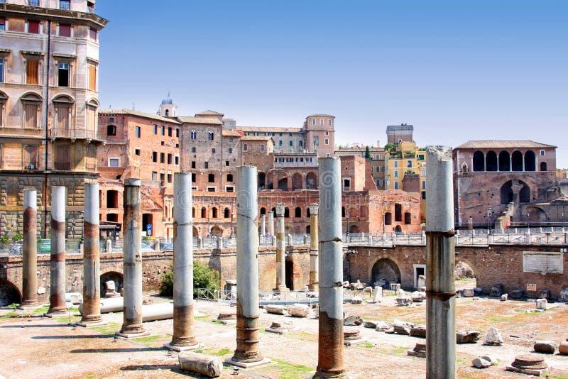 Foro de Trajan, Roma, Italia imagen de archivo