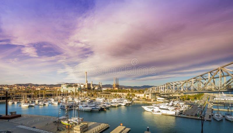 Foro portuario Barcelona fotografía de archivo libre de regalías