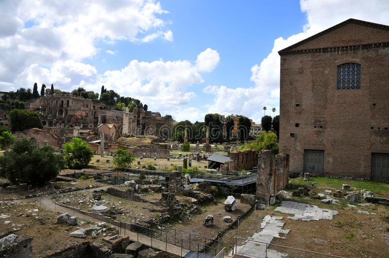 Foro romano fotografía de archivo libre de regalías