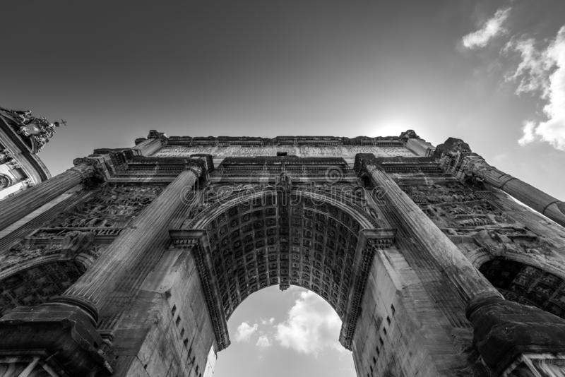 Foro Romano - Colosseo - The arcade through which we gaze at the sky stock image