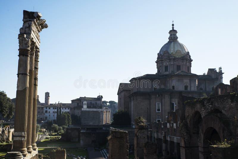 Foro romano en Roma fotos de archivo libres de regalías