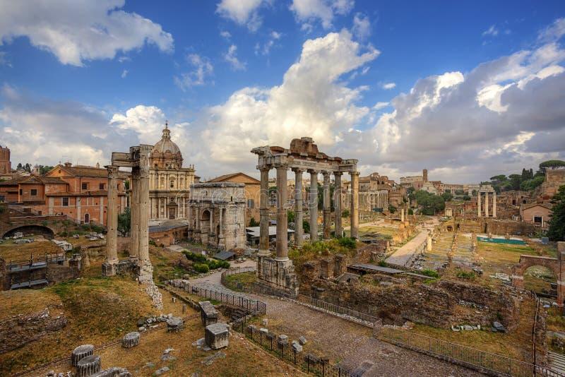 Foro-Romano. Rom. Italien. lizenzfreie stockfotos