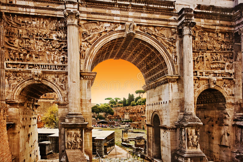 Foro romano, Roma Italia foto de archivo