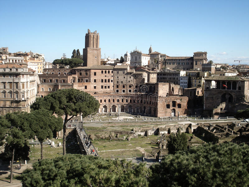 Foro Traiano,罗马 库存照片