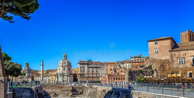 Foro Traiano w Rzym fotografia royalty free