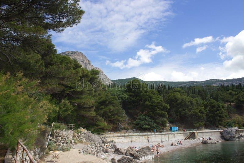 Foros the beach royalty free stock photos
