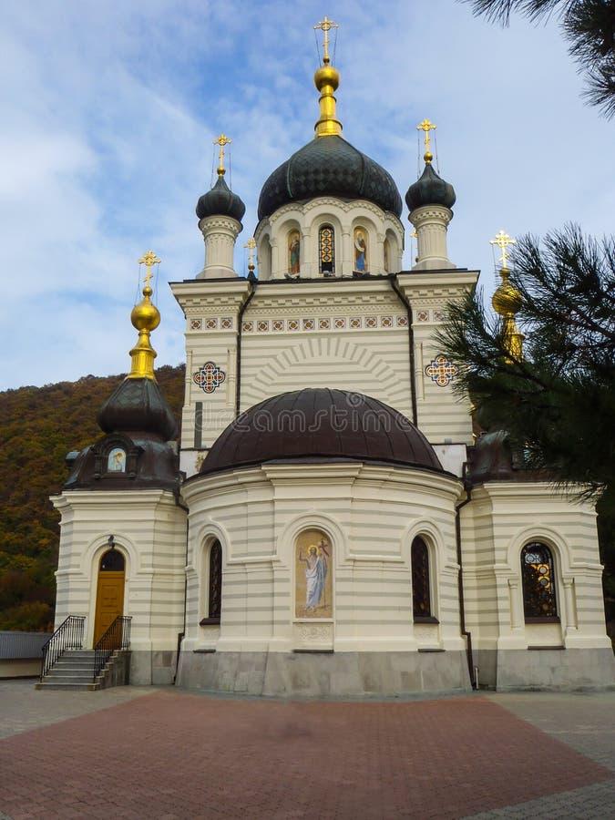 Foros Church near Baidarsky Pass in Crimea. Foros Church Church of Christ`s Resurrection near Baidarsky Pass in Crimea royalty free stock image