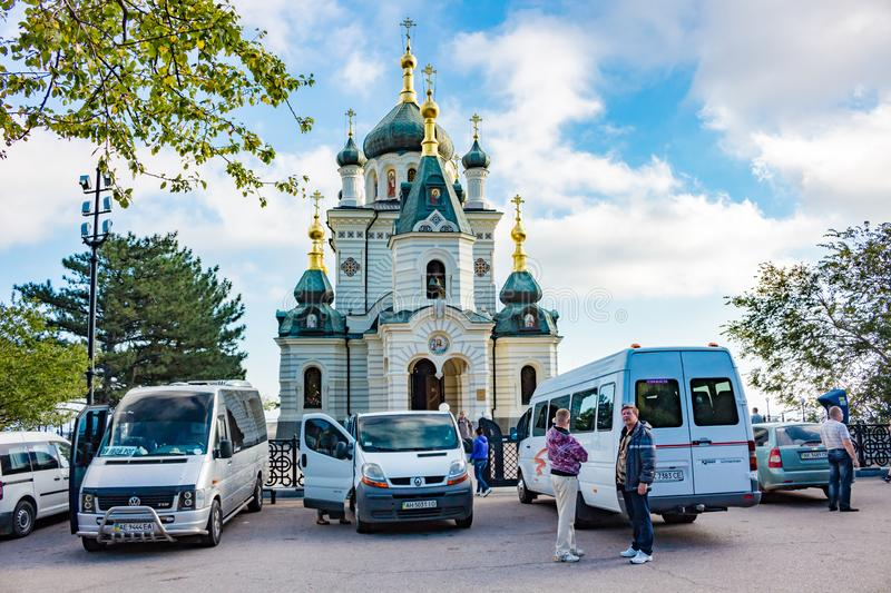 FOROS, CRIMEA - SEP. 2014: Church of the Resurrection of Christ stock images