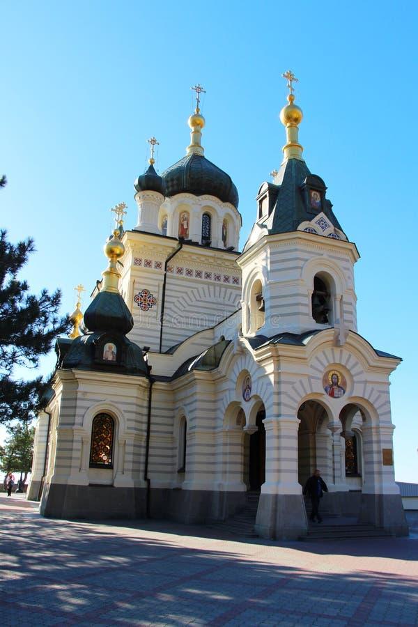 Foros kyrka nära den Yalta staden i Krim arkivfoto