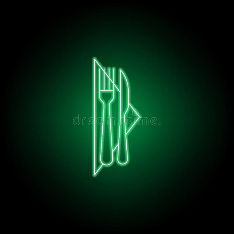 Forquilha, faca, ?cone do guardanapo Pode ser usado para a Web, logotipo, app m?vel, UI, UX ilustração royalty free
