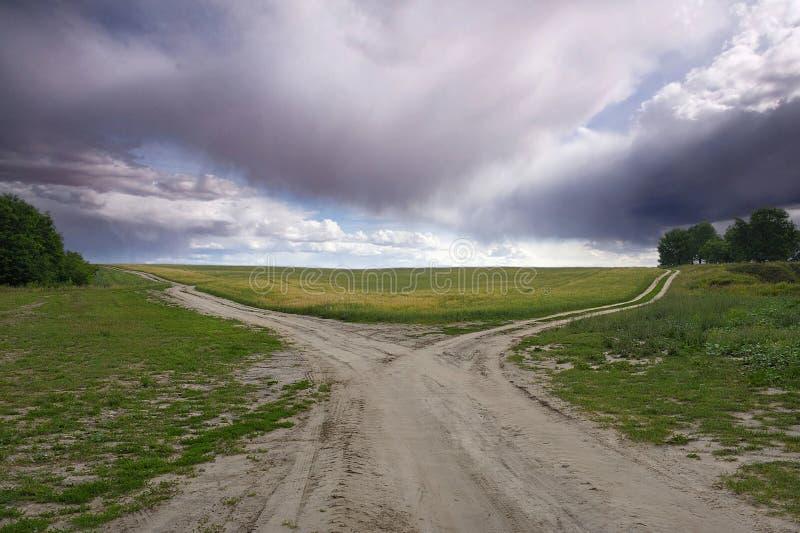 Forquilha ideal da estrada fotos de stock royalty free