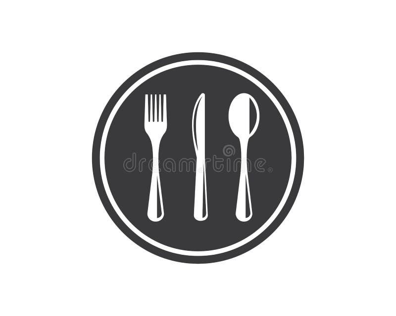 forquilha, ilustração do vetor do logotipo da faca ilustração stock
