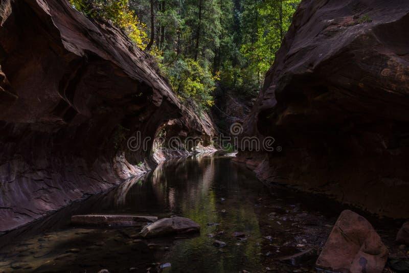 Forquilha ocidental da garganta de Oak Creek n?o 108 fotos de stock