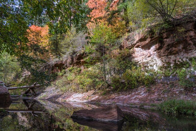 Forquilha ocidental da garganta de Oak Creek n?o 108 foto de stock royalty free
