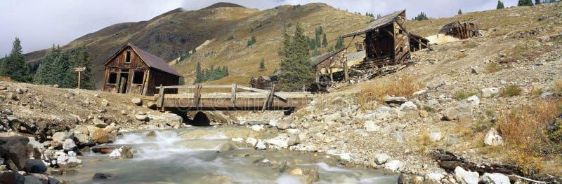 Forquilhas cidade fantasma dos Animas, Colorado fotografia de stock