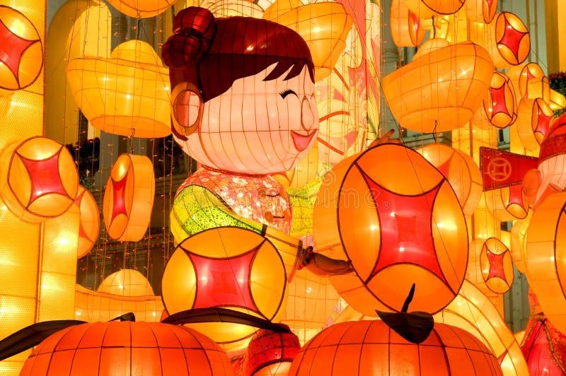 Forre a arte -final feita para comemorar lunar chinês foto de stock
