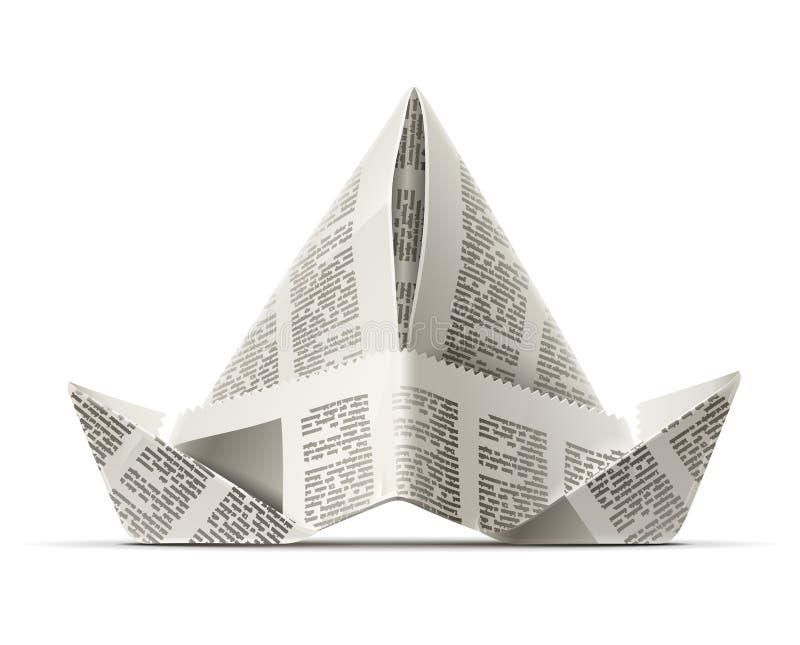 Forre o tampão como o artesanato do origami ilustração stock