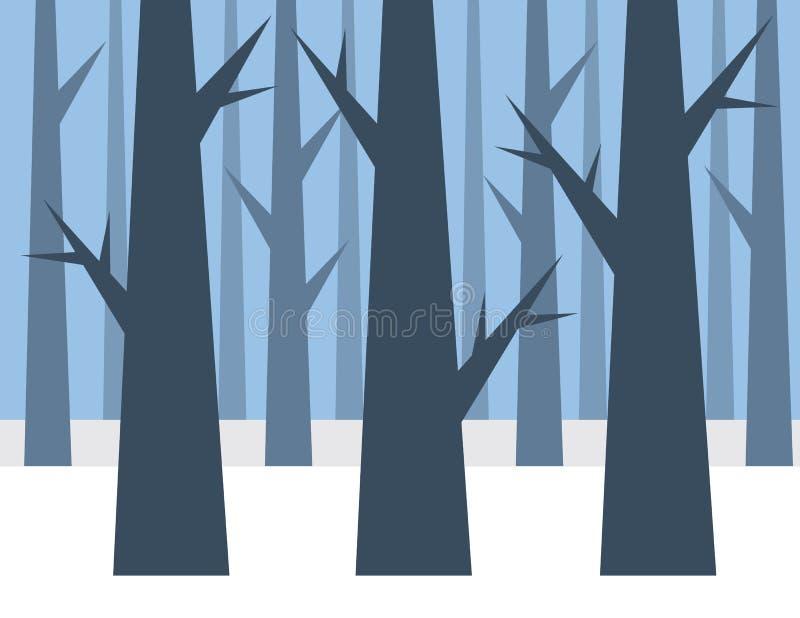 Forrest冬天 向量例证
