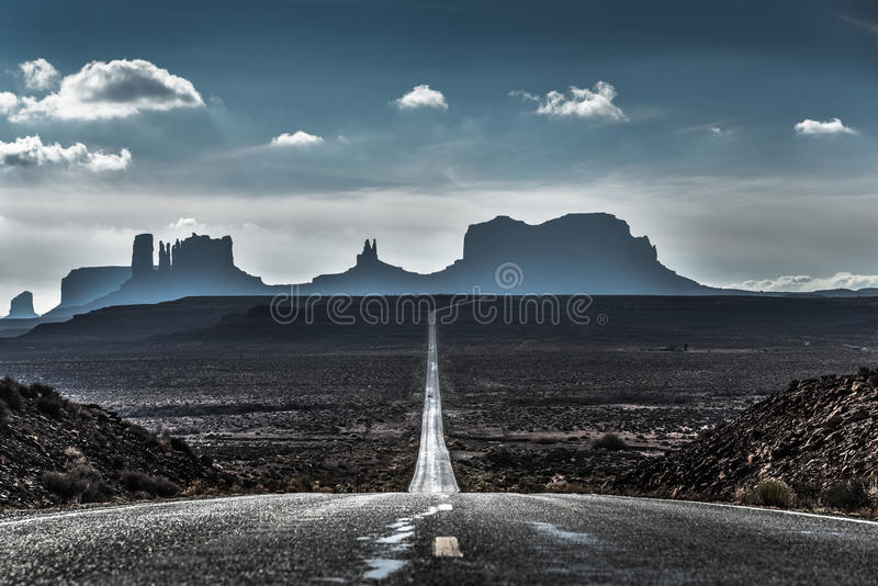 Forrest Gump point in Utah royalty free stock photo