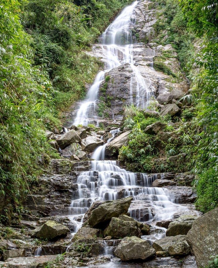 Forrest vattenfall, nordliga Vietnam fotografering för bildbyråer