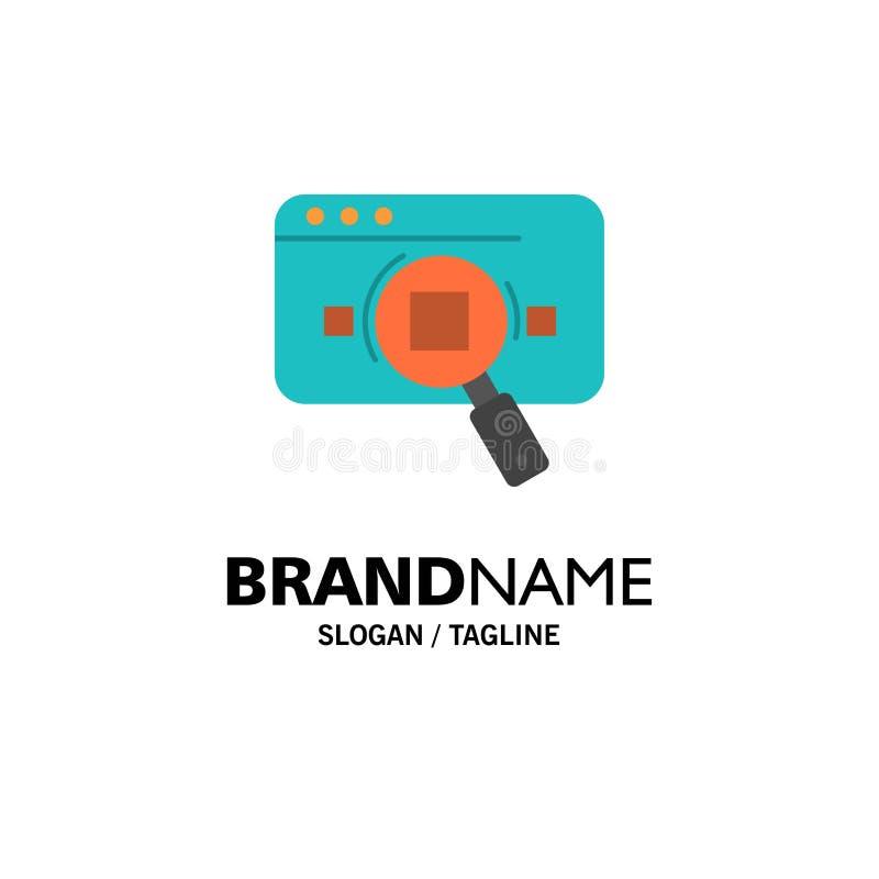 Forschung, analytisch, Analytics, Daten, Informationen, Suche, Netz-Geschäft Logo Template flache Farbe stock abbildung
