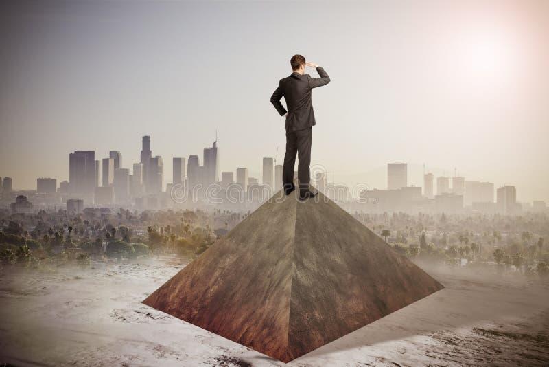 Forschung, balancierend und beobachten Konzept stockbild