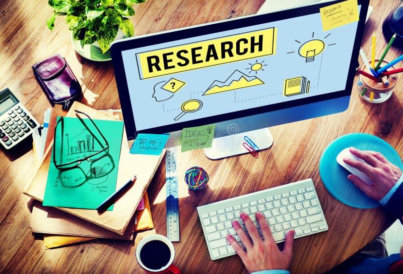 Forschung, die Suchstudien-Forscher Concept sucht lizenzfreie stockfotografie