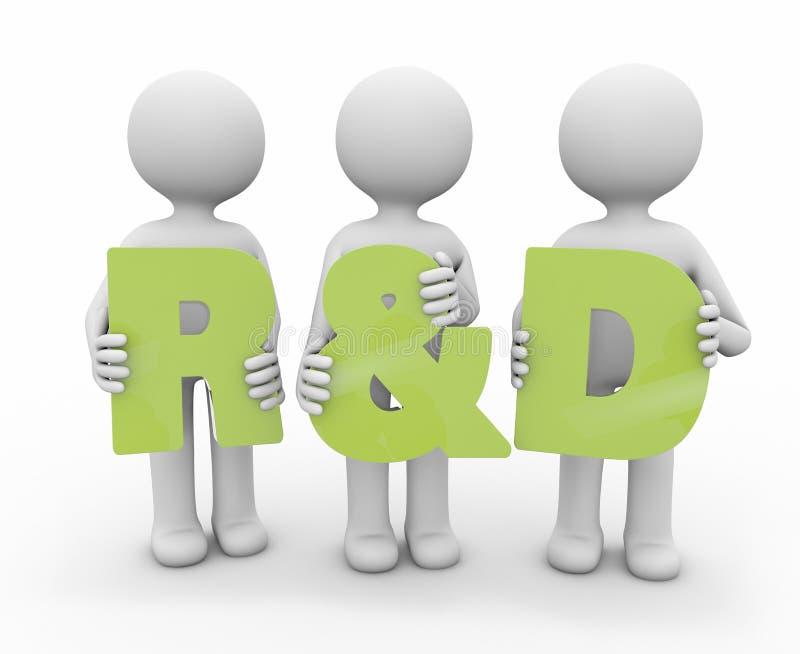Forschung und Entwicklung lizenzfreie abbildung