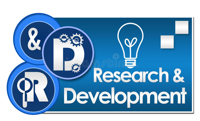 Forschung und - Forschung und Entwicklung drei Kreise vektor abbildung