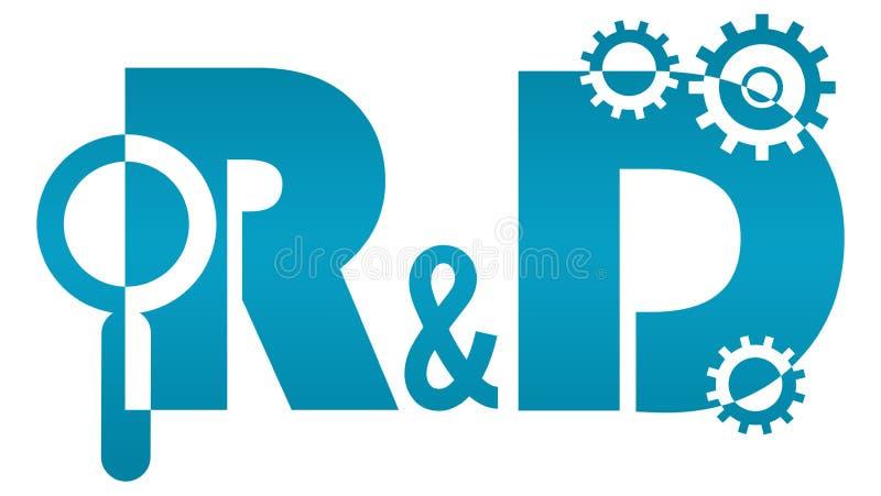 Forschung und - Forschung und Entwicklung Logo lizenzfreie abbildung