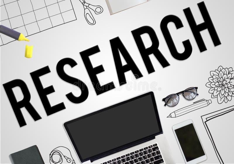 Forschungs-Plan-Planungs-Ideen-Geschäfts-Konzept stock abbildung