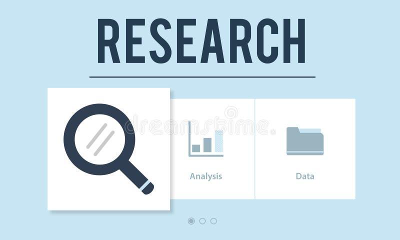 Forschungs-Unternehmensanalyse-Strategie-Konzept vektor abbildung