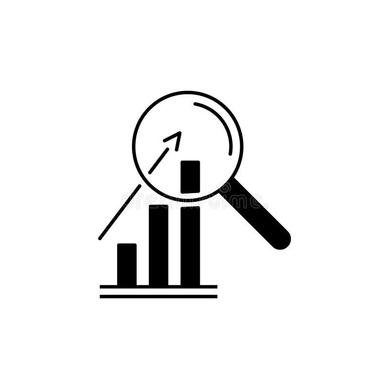 Forschungsikone, analysieren Geschäftszeichen stock abbildung