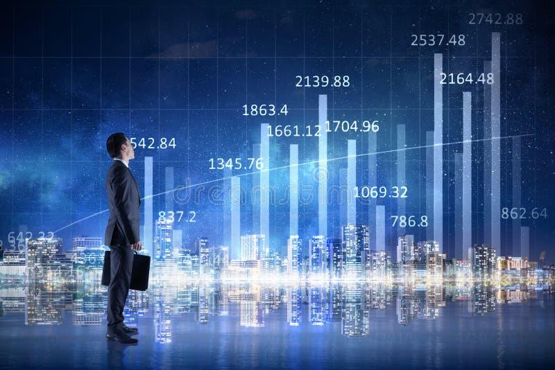 Forseeing a tendência do crescimento foto de stock