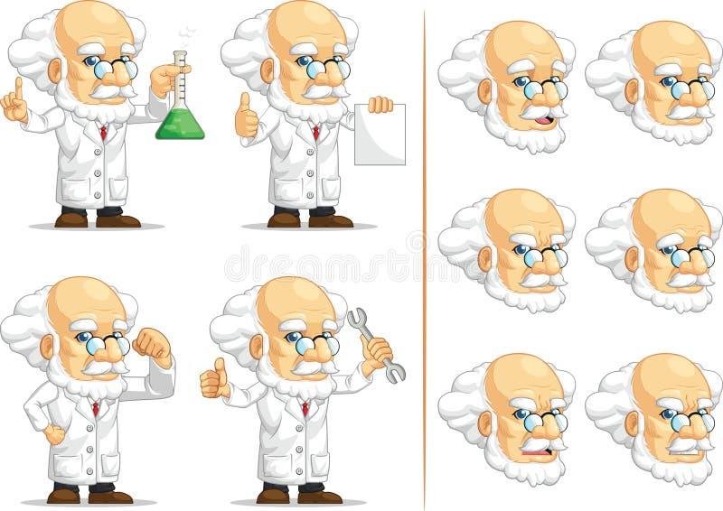 Forskare eller professor Customizable Mascot 2 vektor illustrationer