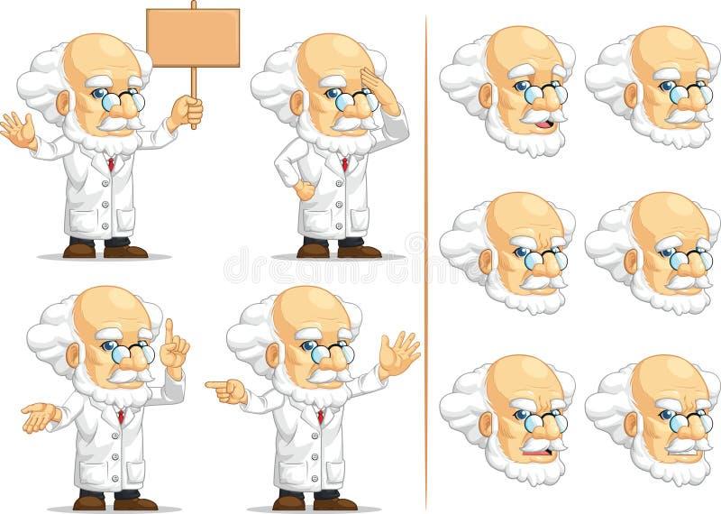 Forskare eller professor Customizable Mascot 8 stock illustrationer