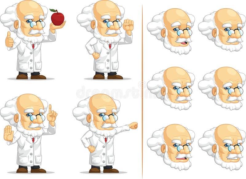 Forskare eller professor Customizable Mascot 9 stock illustrationer