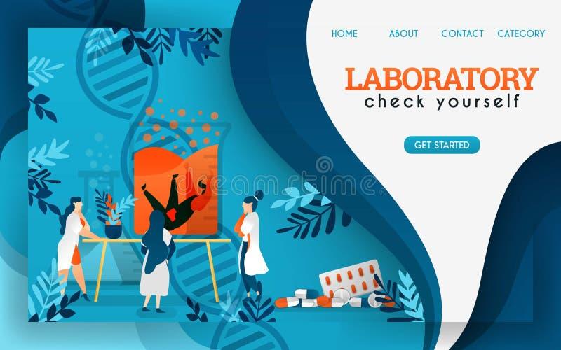 Forskare i laboratoriumet är forska och kontrollera bevarade människor Plan tecknad filmvektorillustration vektor illustrationer