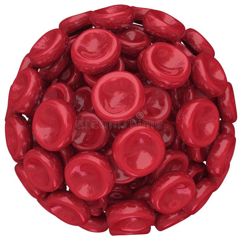 Forskning för hälsovård för sfär för boll för röd blodcell medicinsk royaltyfri illustrationer