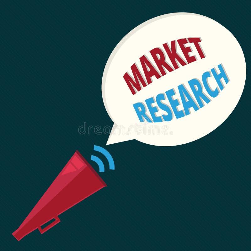 Forskning för marknad för textteckenvisning Begreppsmässigt foto acttionen av annalkande information om konsumenter vektor illustrationer