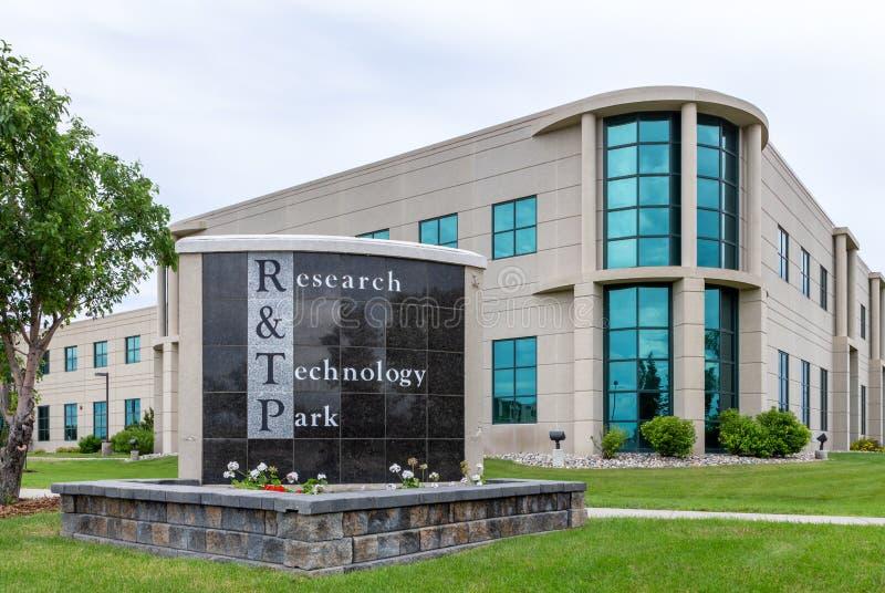 Forskning och teknologi parkerar på den North Dakota delstatsuniversitetet royaltyfria bilder