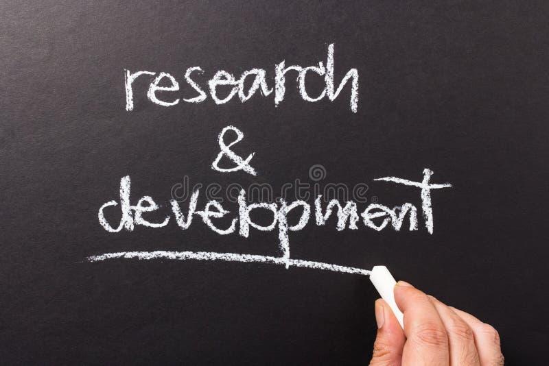 Forskning och utveckling royaltyfri bild