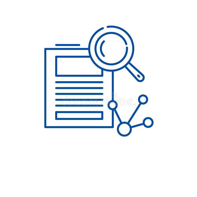 Forskning- och utvecklingslinje symbolsbegrepp Plant vektorsymbol för forskning och för utveckling, tecken, översiktsillustration royaltyfri illustrationer