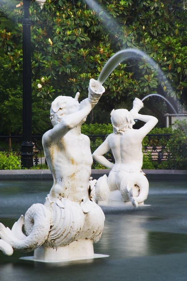 forsyth喷泉公园 免版税库存照片