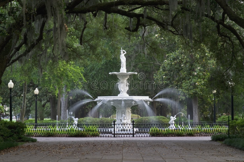 Download Forsyth Park Fountain stock photo. Image of park, southeast - 1130058
