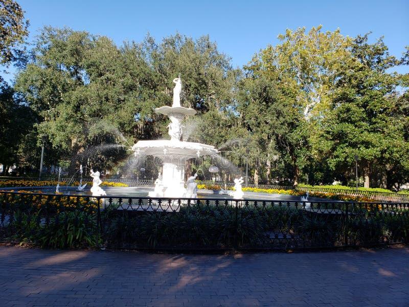 Forsyth Park Fountain Savannah Georgia royalty free stock photos