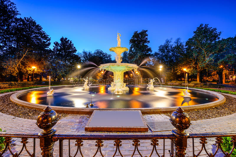 Forsyth Park stock photography
