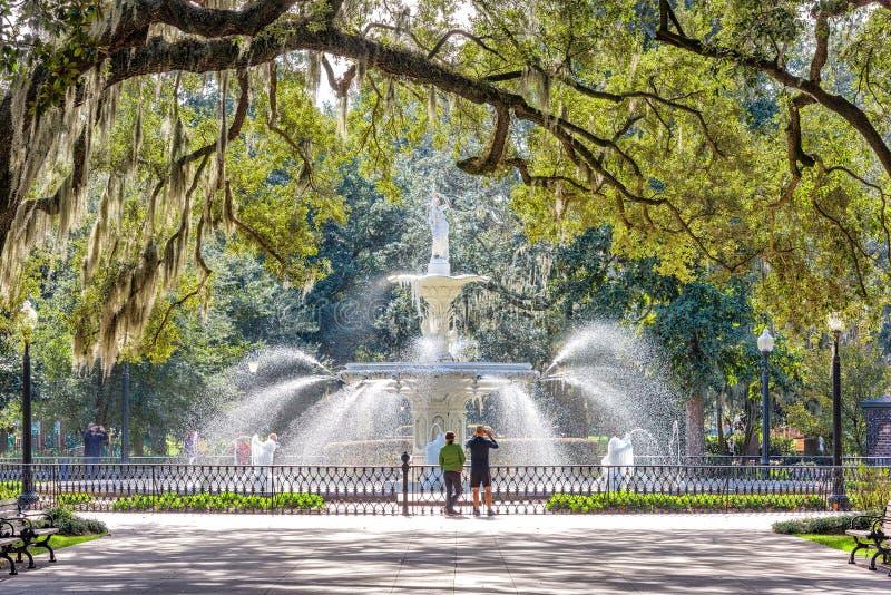 Forsyth Park, Savannah, Georgia, USA royalty free stock images