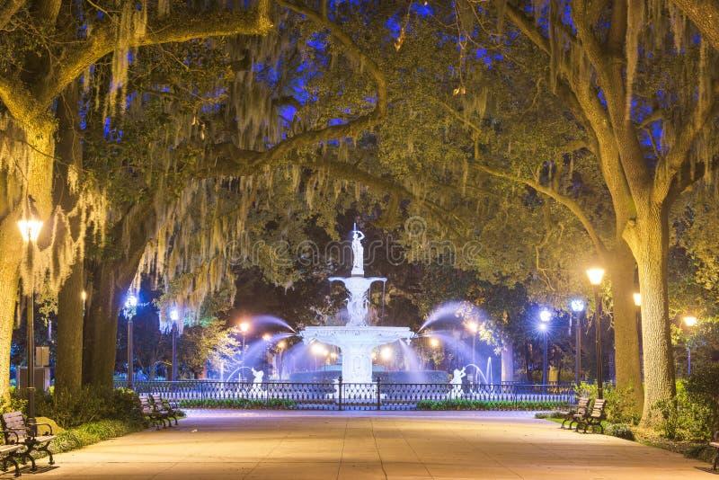 Forsyth Park, Savannah, Georgia, USA fountain stock images