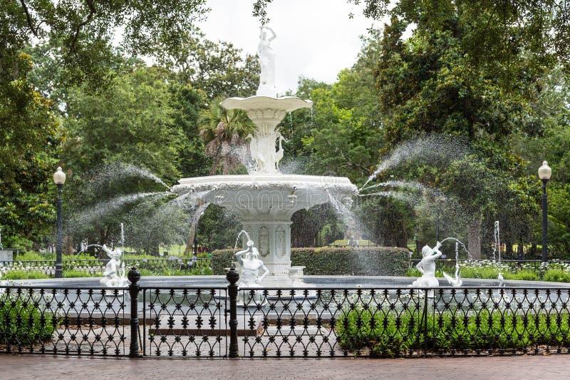 Forsythe Park Fountain stock images